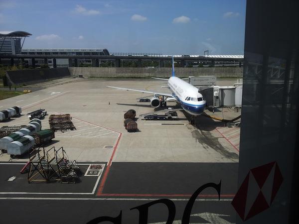 上海浦東国際空港の降りたとこの写真