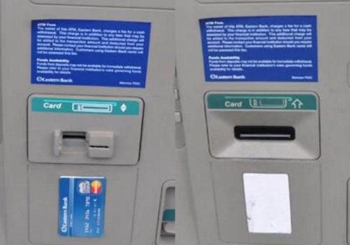 スキミング機械付きカード挿入口の見分け方