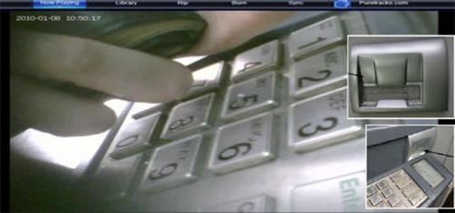 暗証番号がスキミングされているビデオ