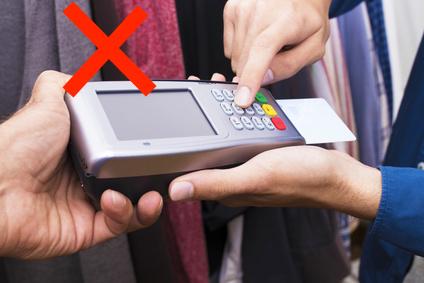 危険なカード払いの例