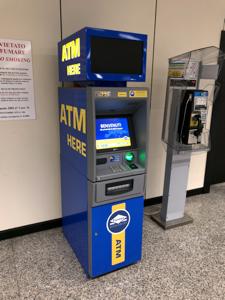 ローマ空港のEuronet(ユーロネット)ATM