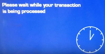 トラベレックスATM画面「取引は進められています」