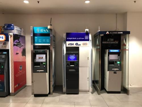 クアラルンプール国際空港第2ターミナルのATM
