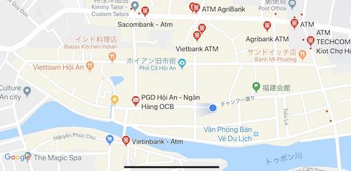 googleマップで海外のATMの場所を探せる