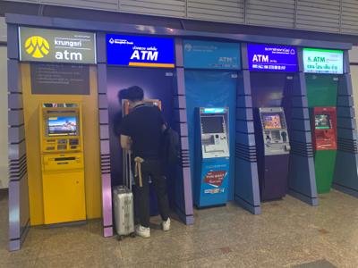 タイ・バンコク ドンムアン空港のATM