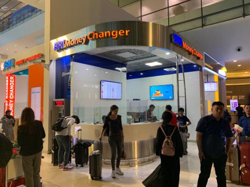 ジャカルタ空港T3の3銀行