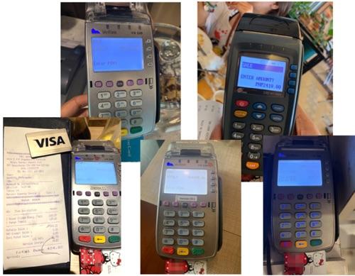 フィリピンのカード払い機械は支払い金額表示あり