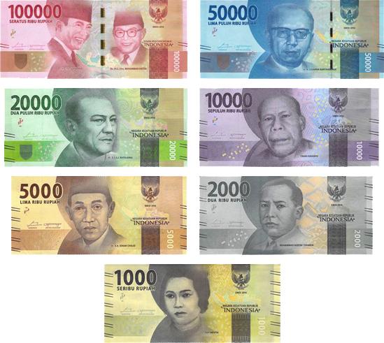 インドネシア・ルピアのお札